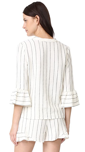 Maven West Riffle Sleeve Top