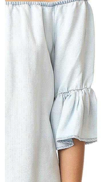 Maven West Sara Off Shoulder Ruffle Top