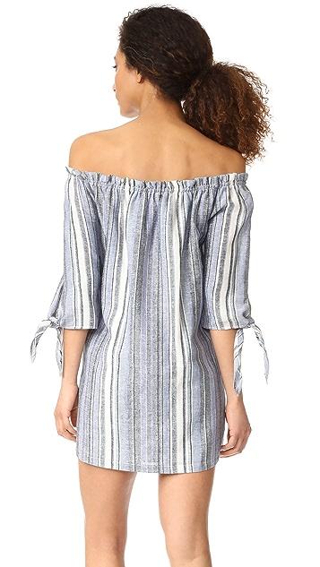 Maven West Nikki Tie Knot Off the Shoulder Dress