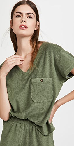 MWL by Madewell - MWL Retroterry V-Neck Pocket Top