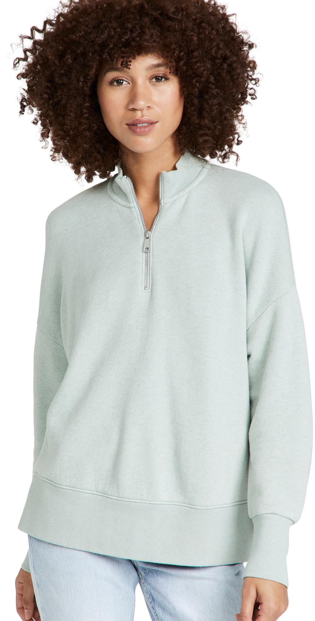 Betterterry Zip-Front Mockneck Sweatshirt