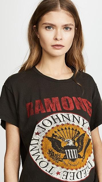 MADEWORN ROCK Футболка Ramones1979 с принтом