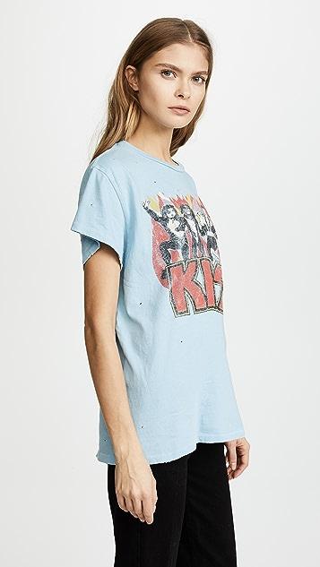 MADEWORN ROCK Kiss T 恤