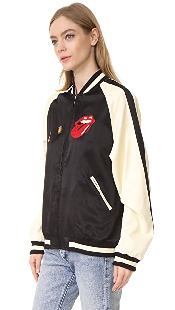 MADEWORN ROCK Rolling Stones Bomber Jacket