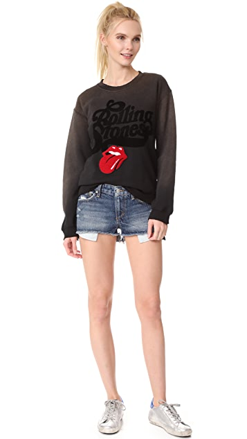 MADEWORN ROCK Rolling Stones Chenille Patch Sweatshirt