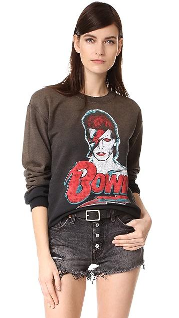 MADEWORN ROCK David Bowie Crew Sweatshirt