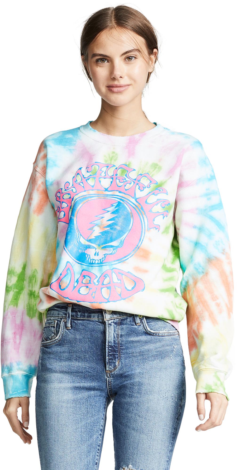 MADEWORN ROCK Grateful Dead Tie Dye Sweatshirt