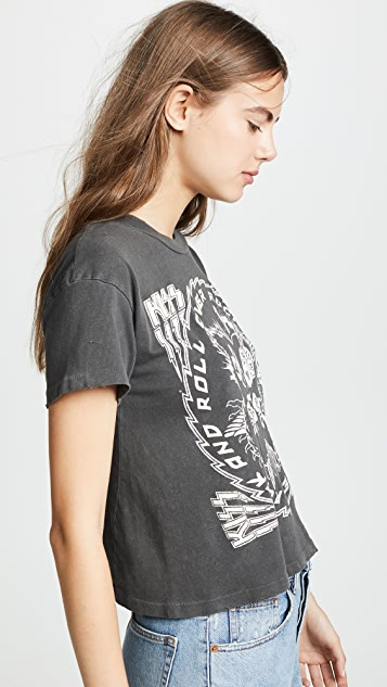 MADEWORN ROCK Kiss Crop Tee