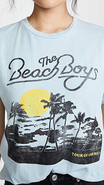 MADEWORN ROCK Beach Boys 圆领 T 恤