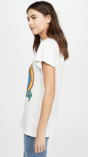 MADEWORN ROCK Def 豹纹 T 恤