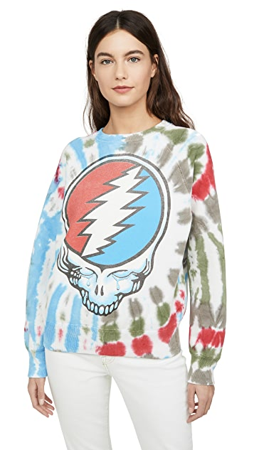 MADEWORN ROCK Grateful Dead 扎染运动衫