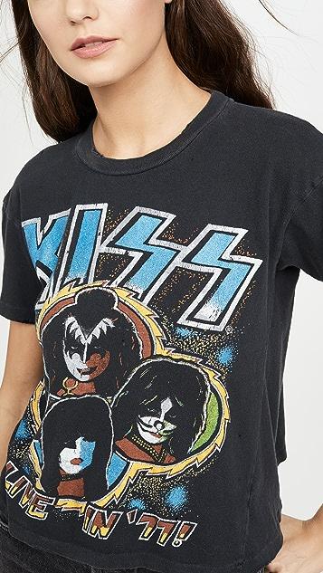 MADEWORN ROCK Kiss Alive 短款 T 恤