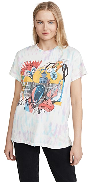 MADEWORN ROCK Pink Floyd 扎染 T 恤