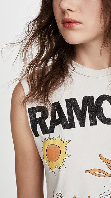 MADEWORN ROCK Ramones Crop Tee