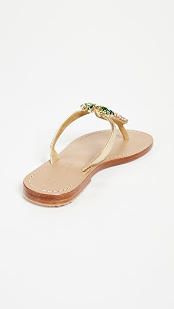 Mystique Pineapple Thong Sandals