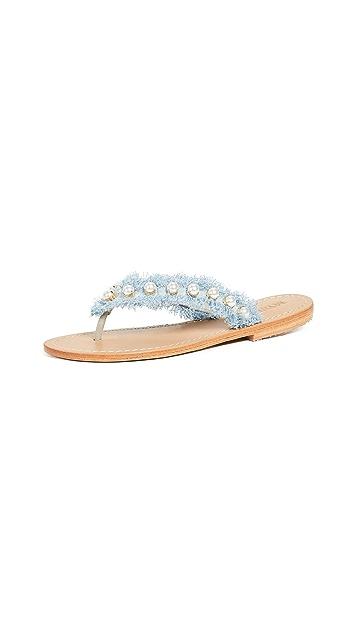 Mystique Imitation Pearl Flip Flops