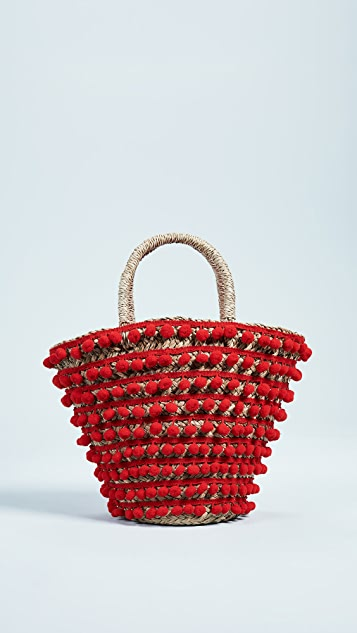 Pom Pom Tote Bag by Mystique