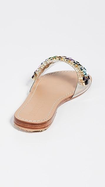 Mystique PVC 镶珠宝便鞋