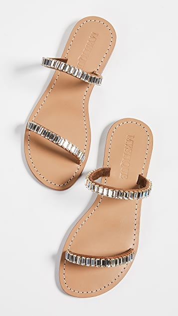 Mystique Jewel Bars Two Strap Slides