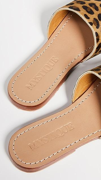 Mystique 豹纹凉拖鞋
