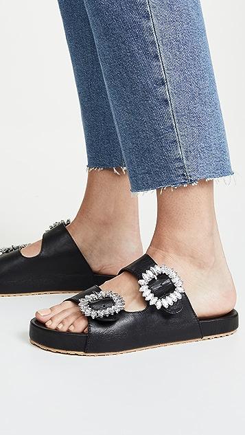 Mystique Ornate Buckle Slide Sandals