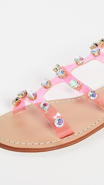 Mystique PVC 镶珠宝凉鞋