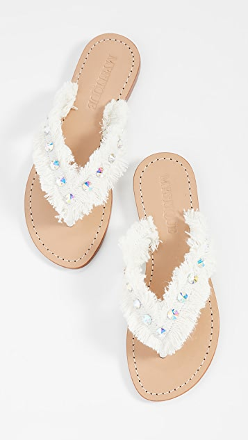 Mystique Fringe Thong Sandals