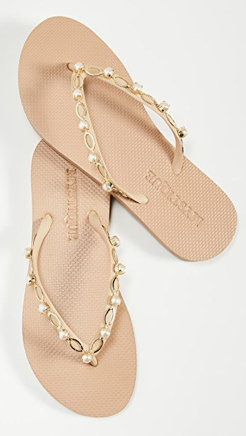 Mystique 珍珠夹趾凉鞋