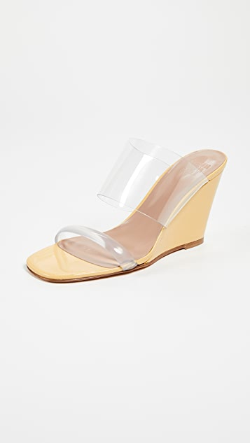Maryam Nassir Zadeh Olympia Wedge Sandals - Amber