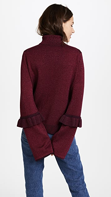 Naadam Turtleneck with Ruffles