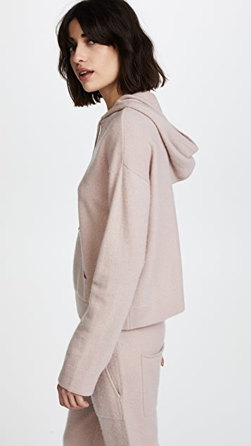 Naadam Oversized Cropped Cashmere Hoodie