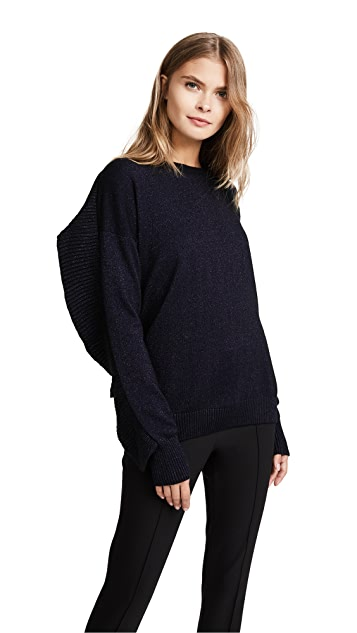 Naadam Ruffle Crew Neck Sweater