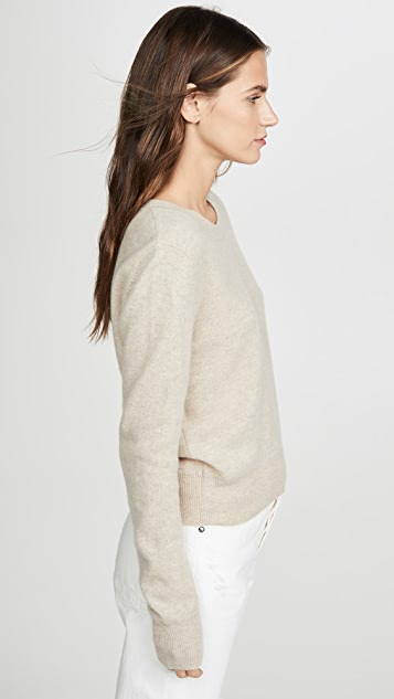 Naadam Cropped Crew Cashmere Sweater