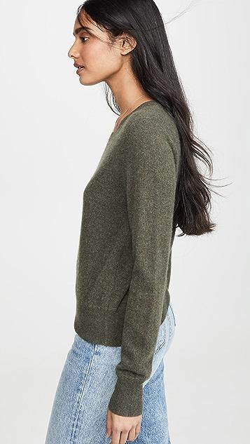 Naadam Укороченный кашемировый свитер с округлым вырезом