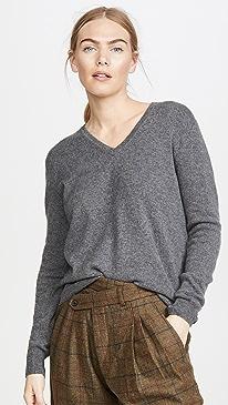V Neck Cashmere Pullover