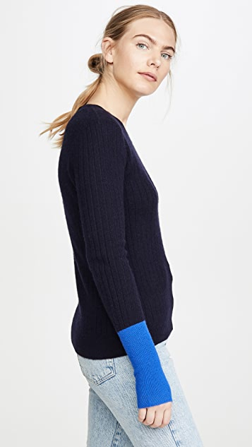 Naadam Colorblock Cashmere Sweater