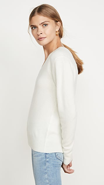 Naadam Кашемировый пуловер с V-образным вырезом
