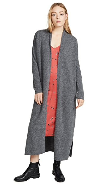 Naadam Long Cashmere Robe Cardigan