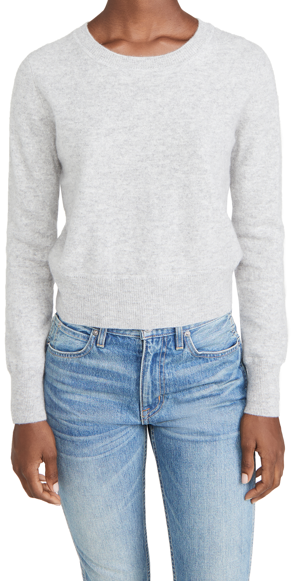 Naadam Long Sleeve Crop Cashmere Pullover