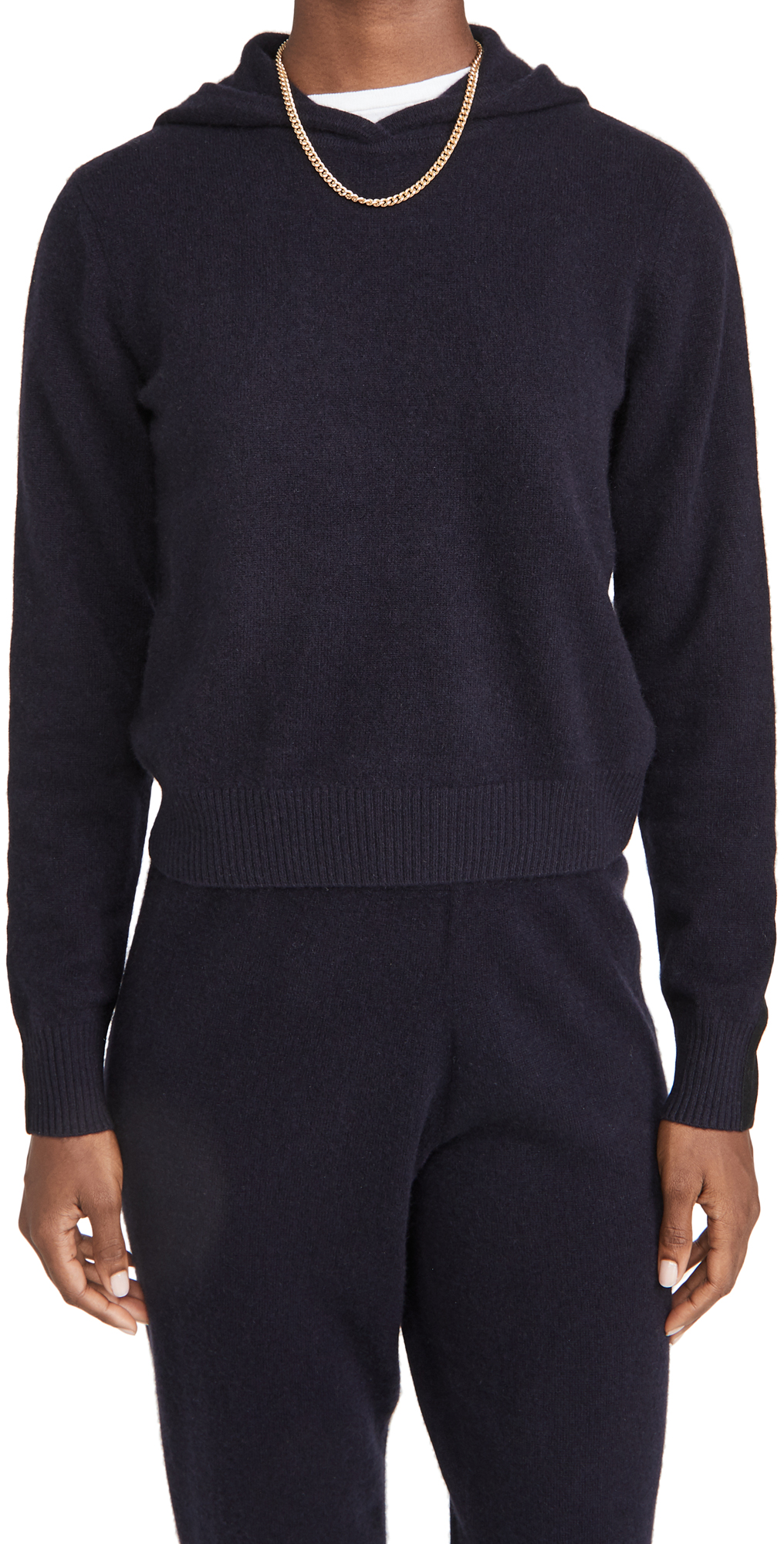 Naadam Cropped Cashmere Hoodie
