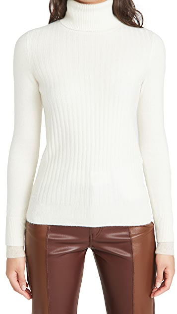 Naadam Ribbed Cashmere Turtleneck Sweater