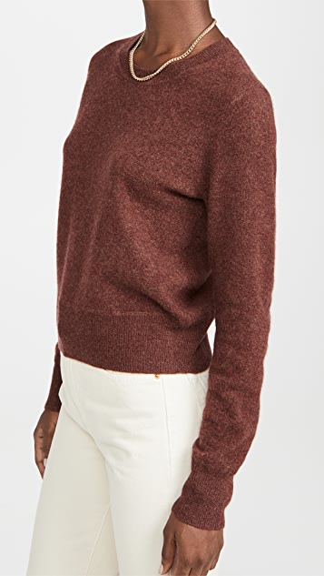 Naadam Cropped Cashmere Crew Sweater