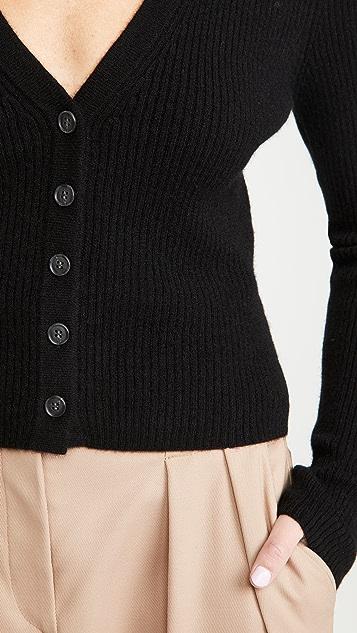 Naadam 罗纹开司米羊绒开襟衫