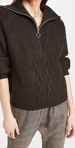Naadam - Cable Zip Pullover