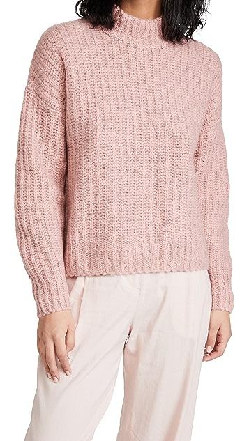 Naadam Ribbed Chunky Mock Neck Sweater