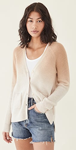 Naadam - Cashmere Ombre Ribbed Cardigan