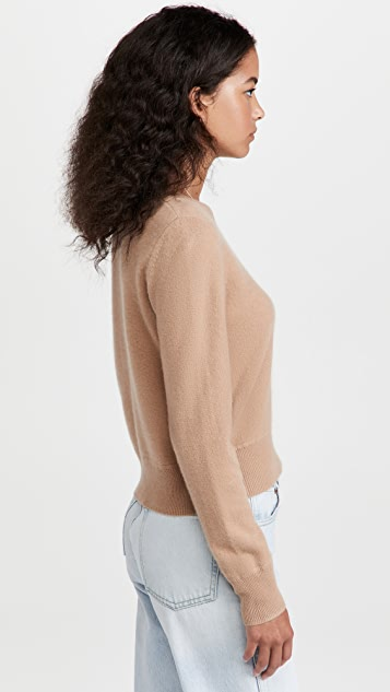 Naadam 长袖短款开司米羊绒套头衫