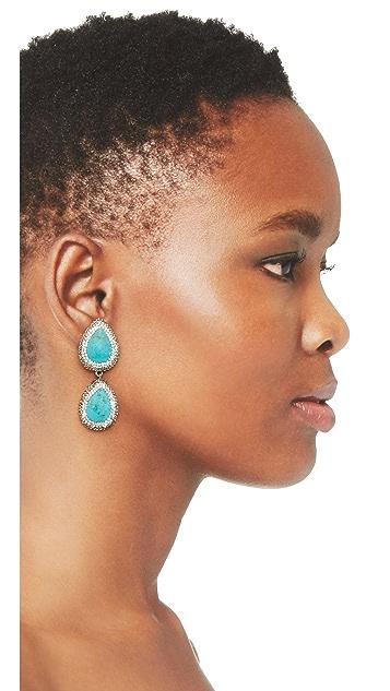 Native Gem Two Tier Earrings