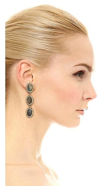 Native Gem 3 Tier Labradorite Earrings