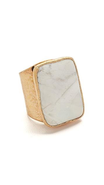 Native Gem Skye White Howlite Ring